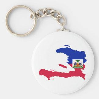 HT del mapa de la bandera de Haití Llavero Personalizado