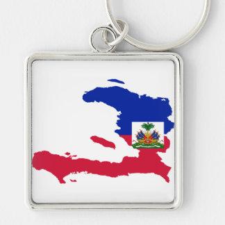 HT del mapa de la bandera de Haití Llavero