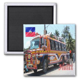 HT - Haiti - Tap Tap Public Transportation Haiti 2 Inch Square Magnet