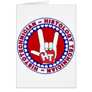 HT HISTOTECHNICIAN HISTOLOGY TECH LOVE LOGO ASL CARD