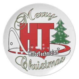 HT MERRY CHRISTMAS HISTO TECHNICIAN PLATE