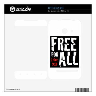 HTC Evo 4G libera para toda la piel HTC Evo 4G Calcomanía
