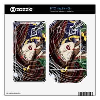 HTC inspira 4G Sara subió en las pieles del vinilo Calcomanías Para HTC Inspire 4G