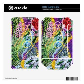 HTC inspira el dragón 4G de las pieles color de ro Calcomanía Para HTC Inspire 4G