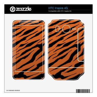 HTC inspira pieles anaranjadas del vinilo de la ra HTC Inspire 4G Calcomanía