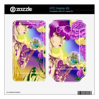 HTC inspira pieles de hadas del vinilo de la seta  HTC Inspire 4G Calcomanía
