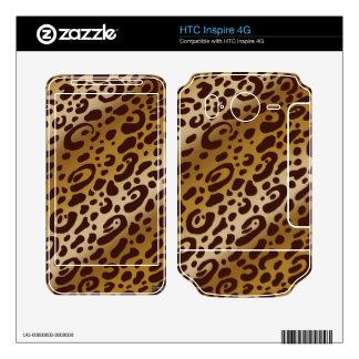 HTC inspira pieles del vinilo del estampado leopar Calcomanía Para HTC Inspire 4G