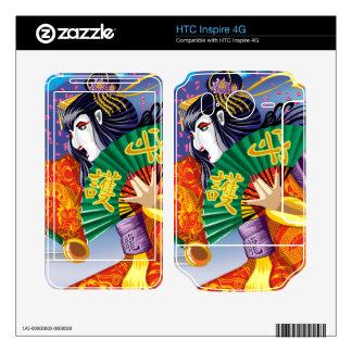 HTC inspira pieles del vinilo del geisha 4G HTC Inspire 4G Calcomanías