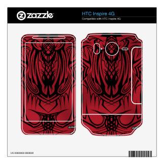 HTC inspira pieles rojas del vinilo 4G HTC Inspire 4G Calcomanías