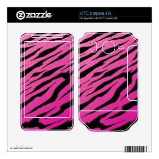 HTC inspira pieles rosadas del vinilo de la raya d Calcomanías Para HTC Inspire 4G