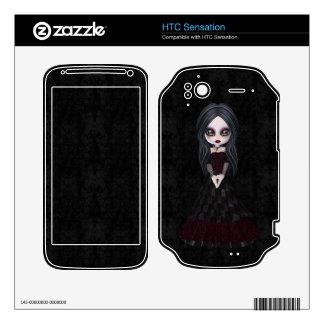 HTC Sensation Cute & Creepy Goth Girl HTC Sensation Skin