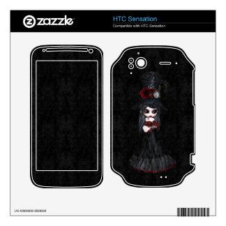 HTC Sensation Steampunk Goth Girl HTC Sensation Decals