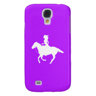 HTC Vivid Case-Mate Cowgirl 3 Silhouette Purple Galaxy S4 Case