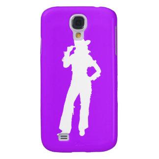 HTC Vivid Case-Mate Cowgirl Silhouette White/Purpl Samsung S4 Case