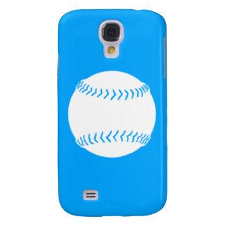 HTC Vivid Softball Silhouette White/Blue Samsung Galaxy S4 Cover