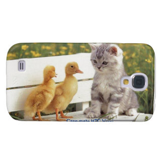HTC Vivid template -add your own text and photos Galaxy S4 Cases