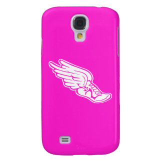 HTC Vivid Track Logo White on Pink Galaxy S4 Cover