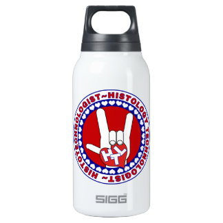 HTL HISTOTECHNOLOGIST SPECIALIST LOGO ROUND LAB INSULATED WATER BOTTLE