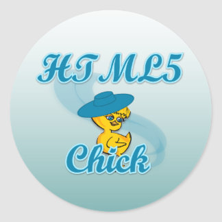 HTML5 Chick #3 Stickers