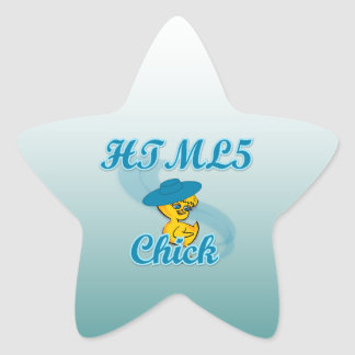 HTML5 Chick #3 Star Stickers