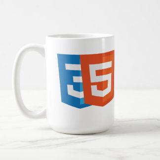 HTML5+CSS3 CLASSIC WHITE COFFEE MUG