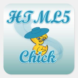 HTML5 polluelo #3 Pegatina Cuadrada