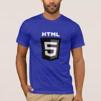 HTML5 T-shirt (Black on Blue)