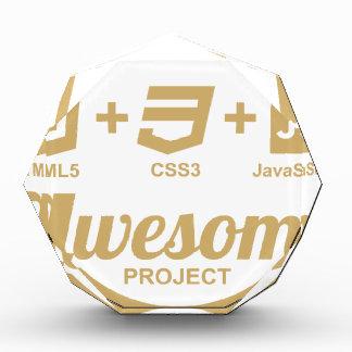 HTML5 Web Designer Awesome Css3 Tshirt Acrylic Award
