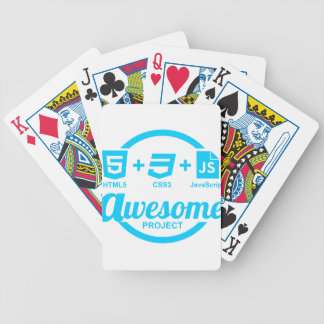 HTML5 Web Designer Awesome Project Css3 Tshirt Bicycle Playing Cards
