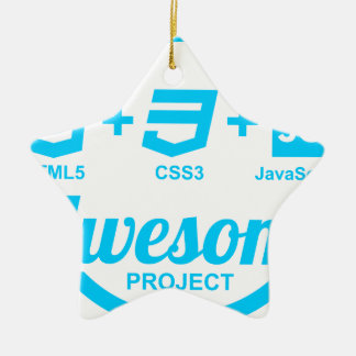 HTML5 Web Designer Awesome Project Css3 Tshirt Double-Sided Star Ceramic Christmas Ornament