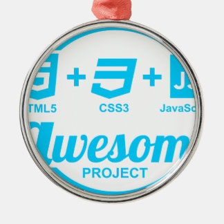 HTML5 Web Designer Awesome Project Css3 Tshirt Round Metal Christmas Ornament