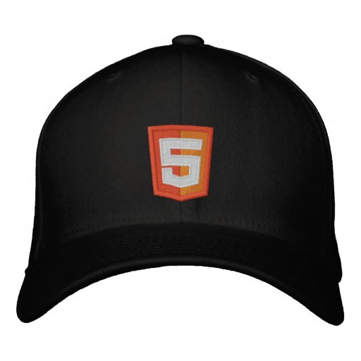 HTML 5 EMBROIDERED BASEBALL HAT