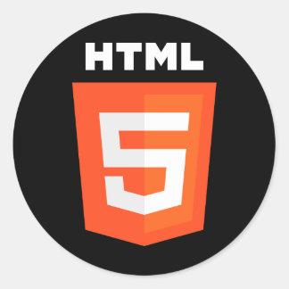 HTML 5 Logo Classic Round Sticker