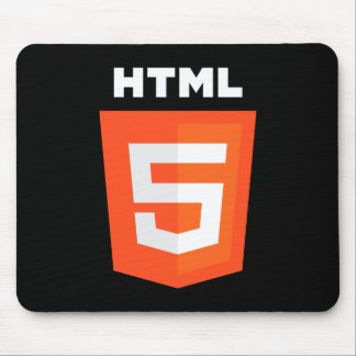 HTML 5 Logo Mouse Pad