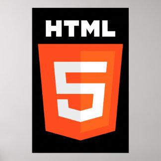 HTML 5 Logo Poster