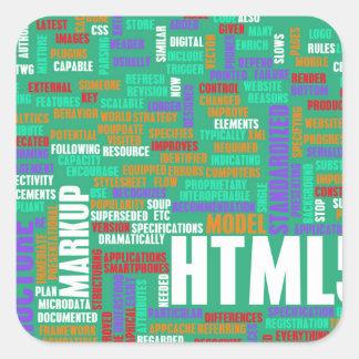HTML 5 o HTML5 Pegatina Cuadrada