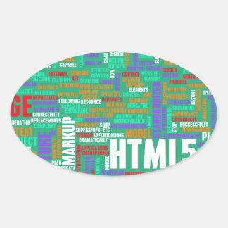 HTML 5 o HTML5 Pegatina Ovalada