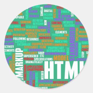 HTML 5 o HTML5 Pegatina Redonda