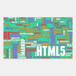 HTML 5 o HTML5 Pegatina Rectangular