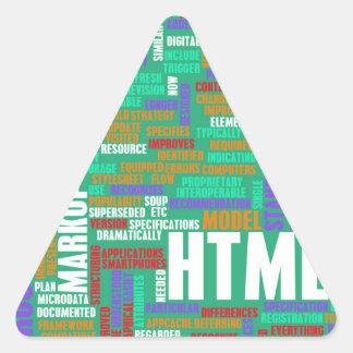 HTML 5 o HTML5 Pegatina Triangular