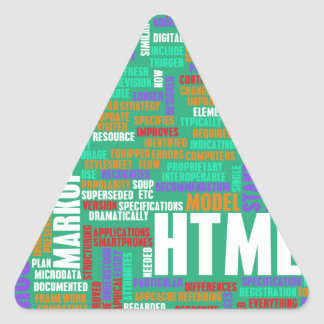HTML 5 or HTML5 Triangle Sticker
