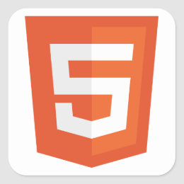HTML 5 SQUARE STICKER