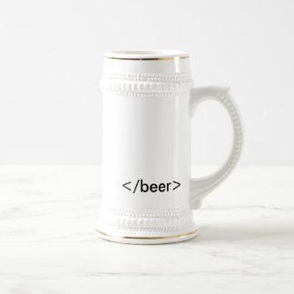 HTML <beer> Stein Coffee Mug