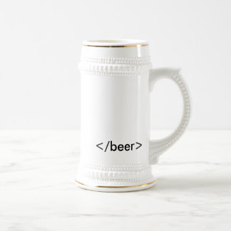 HTML beer Stein Taza