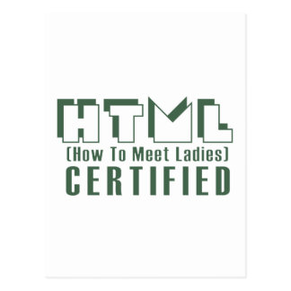 HTML Certified Ladies Postcard