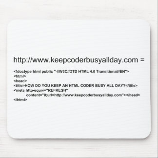 HTML coder Mousepad