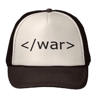 HTML de la guerra del final - negro y blanco Gorras De Camionero