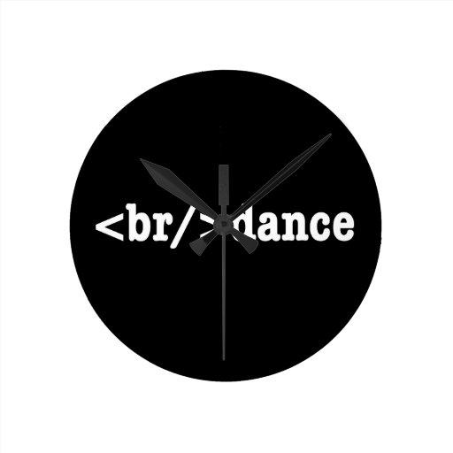 HTML del breakdance Reloj Redondo Mediano