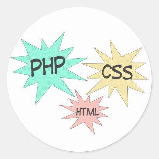 HTML DEL PHP CSS PEGATINA REDONDA