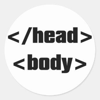HTML_Element Classic Round Sticker